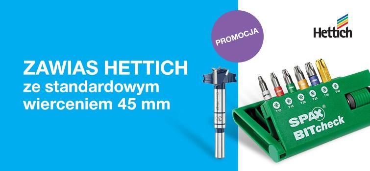 Promocja – zawiasy Hettich 45 mm