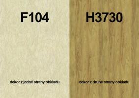 Panel ścienny F104 ST2/H3730 ST10 4100/640/9,2