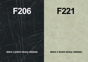 Panel ścienny F206 ST9/F221 ST87 4100/640/9,2
