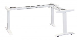 STRONG Stelaż z elektryczną regulacją wysokości narożny biały mat  RAL 9016