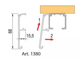 TERNO drzwi przesuwne  40-120kg, Profil kryjący  1380/A/S 6m