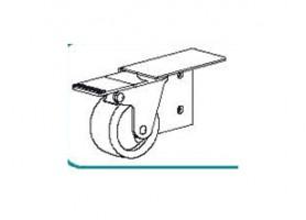TERNO wózek z hamulcem po lewej stronie art. 306/S