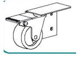 TERNO wózek z hamulcem po prawej stronie  art. 306/D