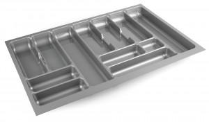 STRONG Wkład na sztućce 80/490 (735 x 490 mm) srebrny metalik
