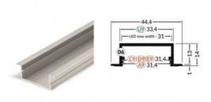 TM-profil LED Vario30-06 (4m) biały