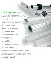 REHAU metallic-line kpl. 20mm 900/1500 alum.