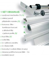 REHAU metal LINE KPL. RAI AL/88 600/1500, aluminium
