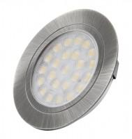 LED światło punktowe Owal stal nierdzewna szlifowana ciepły biały