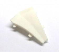 Listwa przyścienna Egger Narożnik wewnętrzny 135°  Biały