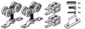 SEVROLL zestaw okuć do drzwi przejściowych Simple ZPI-18 50kg