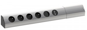 BACHMANN Casia 923.012, 4x230 + USB aluminium z wyłacznikiem