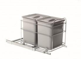 VIBO PET40FC kosz na śmieci 2x16 l 400 mm