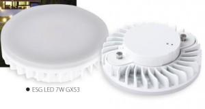 SK-światło ESG LED 7W GX53-WW ciepły biały
