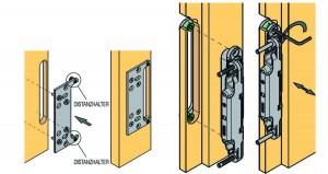 KK-podkładka wzmacniająca zawias  K5080 do ościeżnicy regulowanej ze śrubą dyst