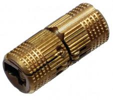 Zawias cylindryczny CI01 średnica 12 mm mosiądz