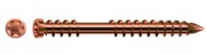 SPAX wkręt 5x50 tarasowy cylindryczny TXS, A2, C, kolor starego złota