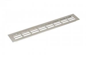 Kratka wentylacyjna 60/400mm imitacja stali nierdzewnej
